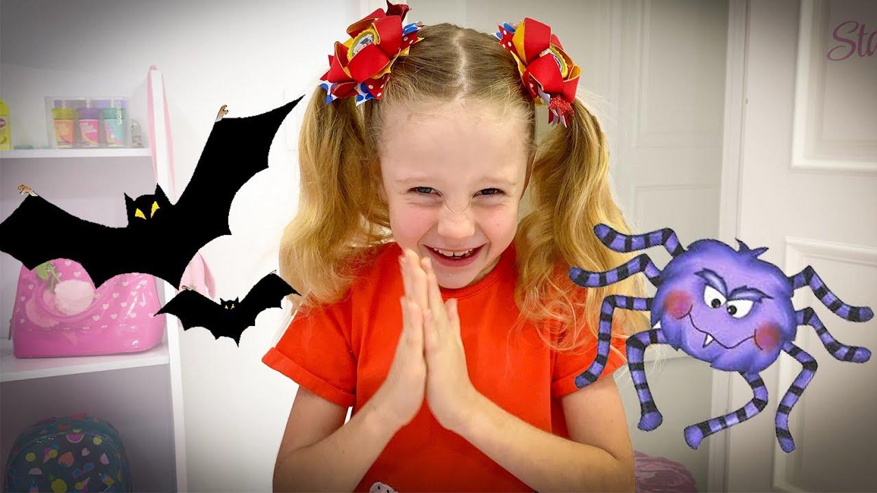 Nastya and a comic story on Halloween