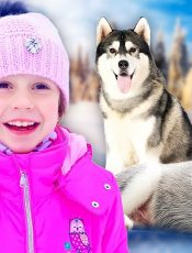 Nastya and dad in the New Year's story about the journey