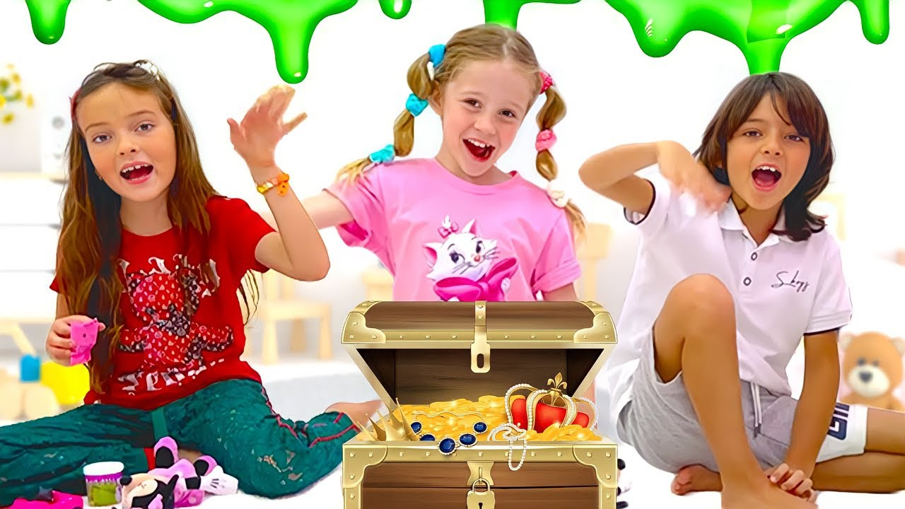 Nastya and her friends play a mysterious challenge