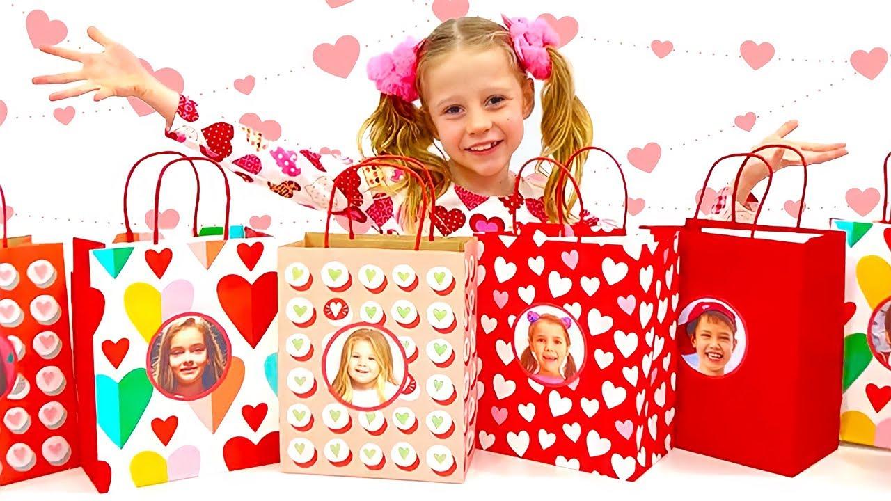 Nastya prepares gifts for best friends