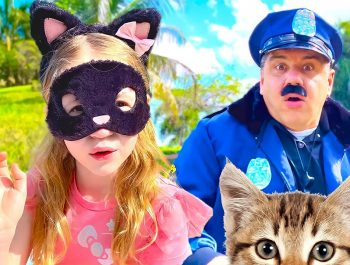 Nastya and Funny Police Chase Story Pretend Play. Dress up for kids