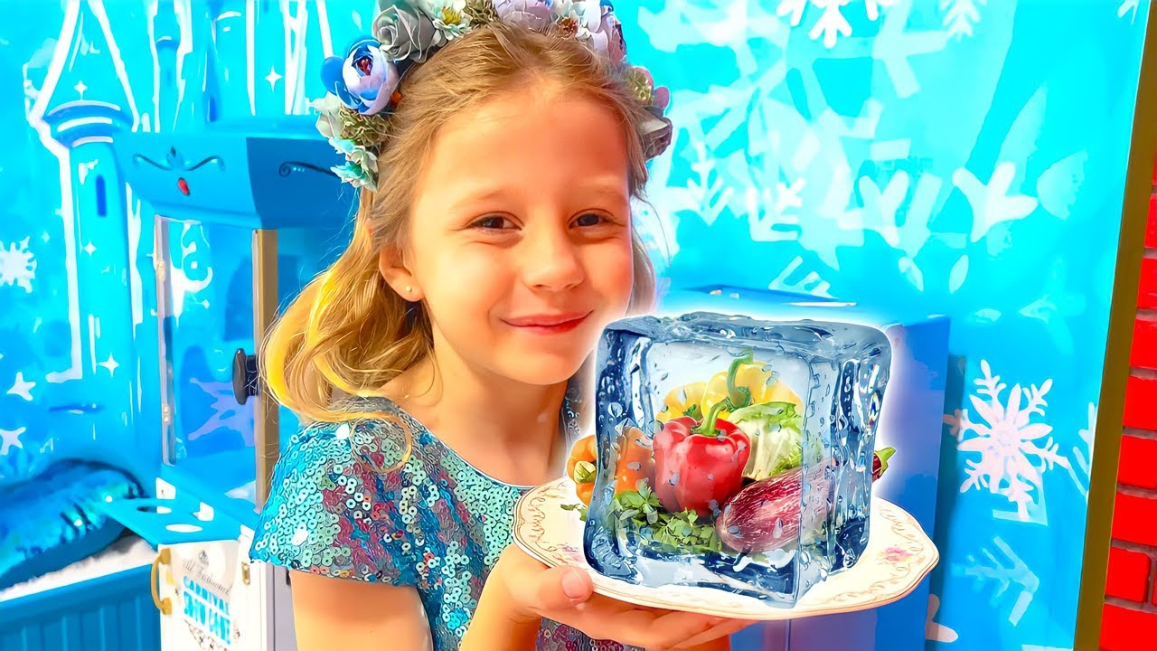 Nastya and Hot vs Cold Challenge with Dad. Funny Stories for kids