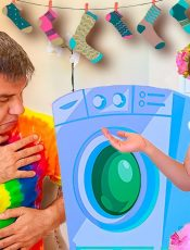Nastya pretends to be a good daughter for dad. Stories for kids