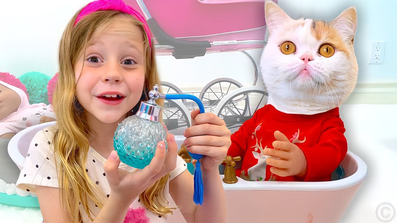 Nastya and Maggie in the story for kids about the magic wand.