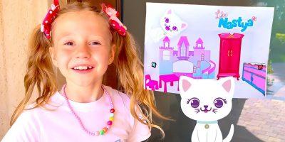 Nastya and her new DIY room in the style of Like Nastya. Useful story for kids