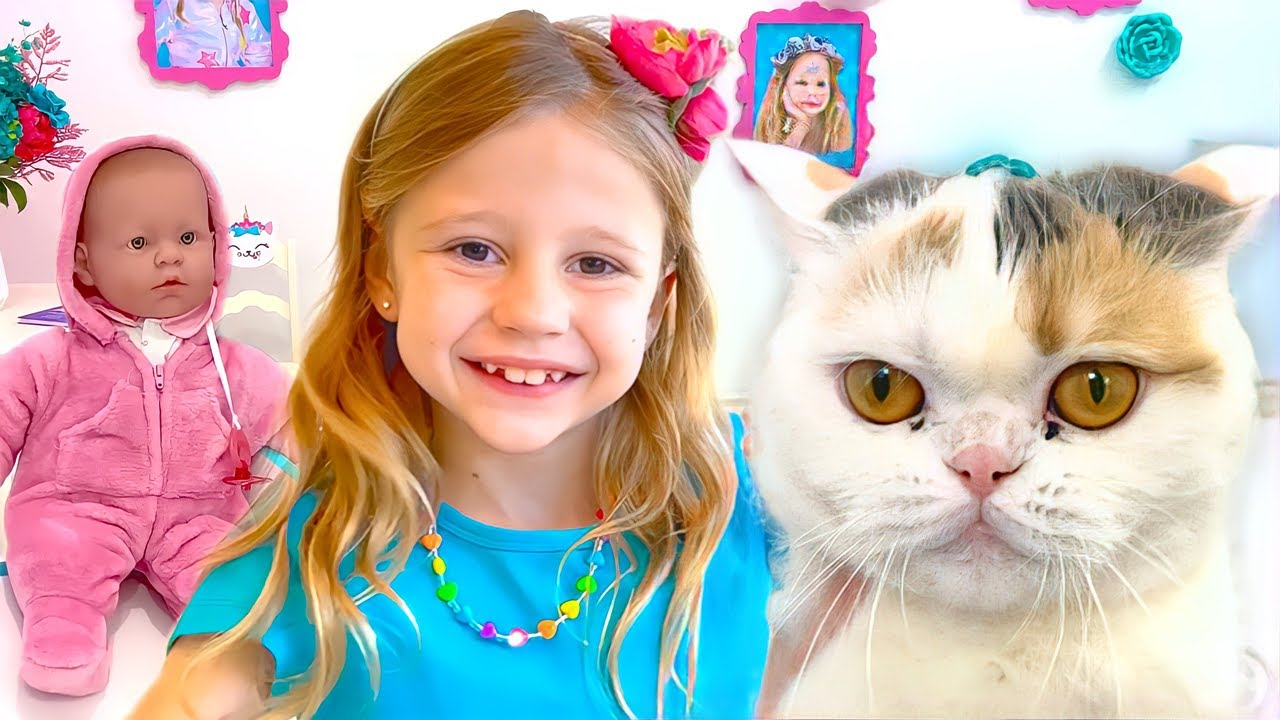 Nastya Pretends to be a Nanny for Baby. Useful videos for children