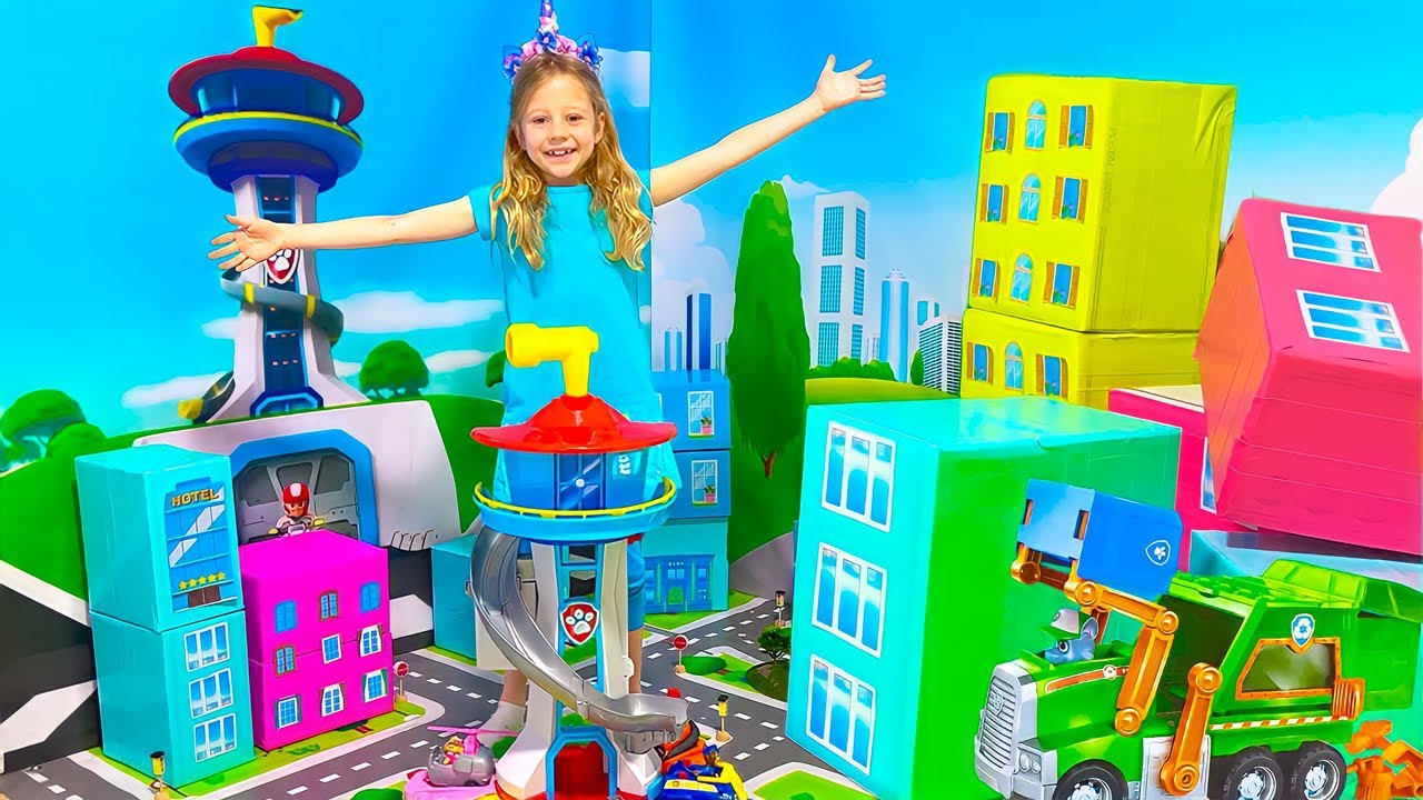 Nastya learns how to reuse on Earth Day with the PAW Patrol Toys. Useful story for children