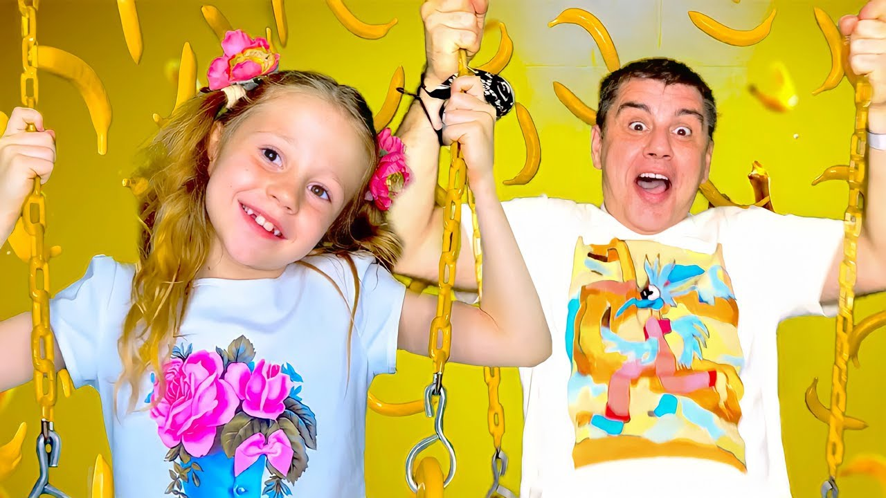 Nastya and Dad – the most one wonderful family day of fun. Story for children