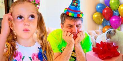 Nastya's father Birthday Party! Happy Birthday Father!