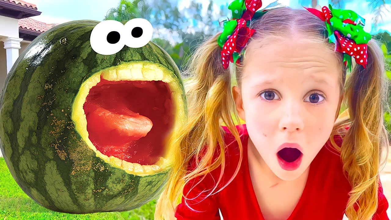 Nastya and Watermelon with a fictional story for kids – The Magical Watermelon