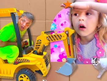 Nastya and dad plays hide and seek at home – kids activity