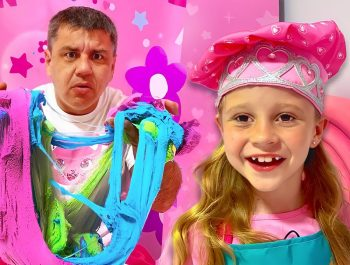 Nastya teaches dad how to be creative. Useful video for children