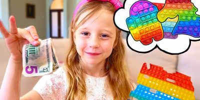 Nastya and friends learn to share with each other. Pop it challenge for kids