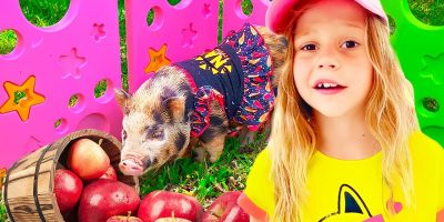 Nastya Visit a grandfather and Learn about Animals. Useful video for children.