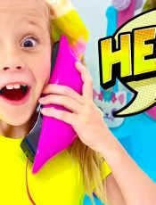 Nastya try to know  the rules of behavior when visiting a friend. Story for kids.