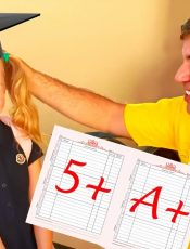 Nastya and how important it is to study well at school. Story for kids